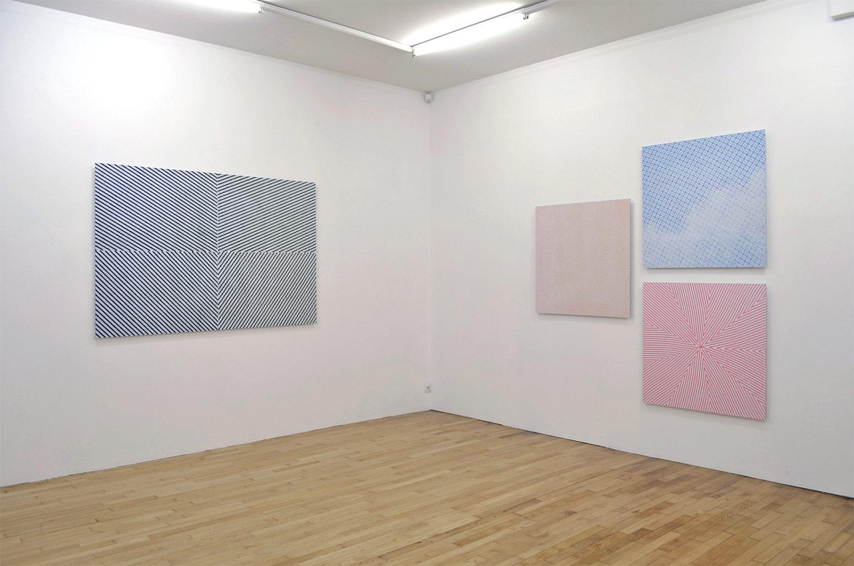 Exposition personnelle, Galerie Nathalie Clouard, Rennes, 2013 Trames de billets de banque, scannées, agrandies et imprimées sur dibon