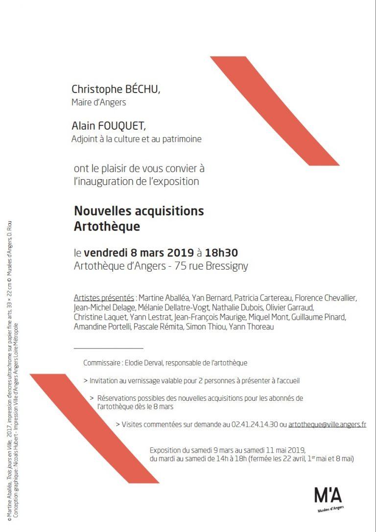 artothèque d'Angers invitation