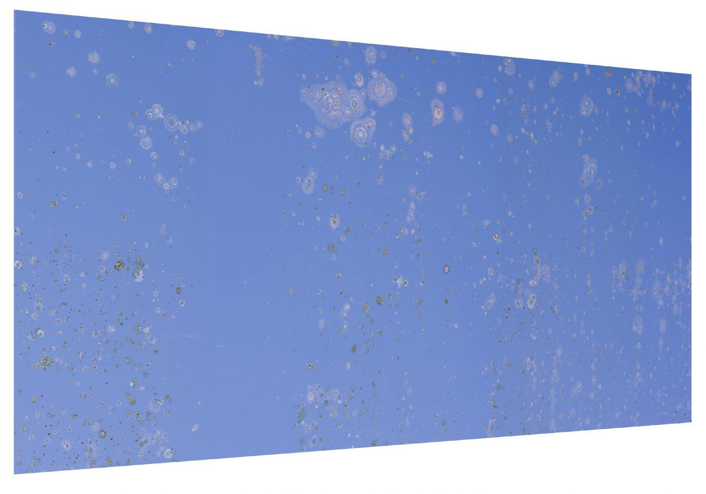 Numéro 55 / Reflet du ciel dans un miroir oxydé 120 x 233 cm. 2016